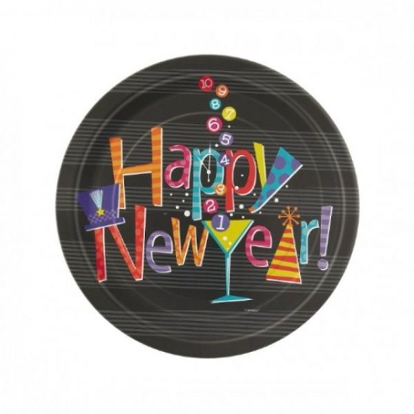 New Year's Count Down Plates